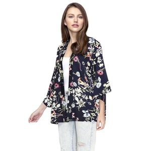 Do Everything in Love Flower Print Cardigan Kimono